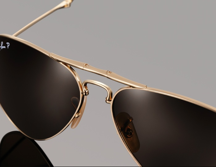 ray ban aviator homme or