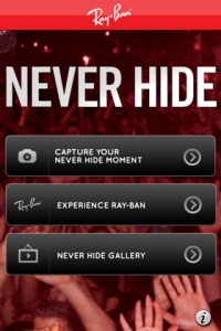 App Ray-Ban Never Hide screen 4
