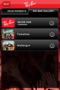 App Ray-Ban Never Hide screen 2