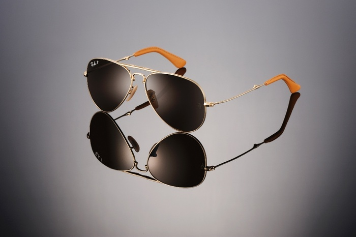Ray-Ban Aviator Folding Ultra RB3479KQ-001-M7 Or + Titane | Verre Crystal Brown Gradient Polarized P3 Plus