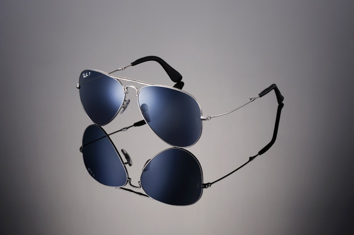 Ray-Ban Aviator Folding Ultra RB3479KQ-003-N4 Or blanc | Verre Crystal Blue Polarized P3 Plus